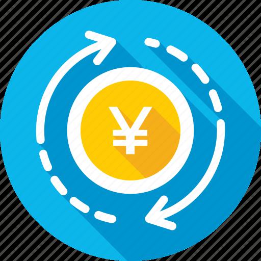 currency exchange, foreign exchange, japanese yen, money exchange, yen value icon