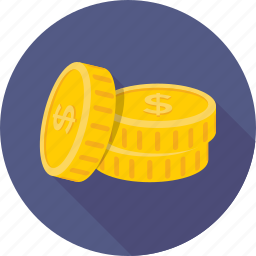 cash, coins, currency coins, dollar coins, saving icon