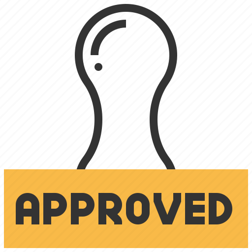 accept, approved, business, confirm, seo, stamp, success icon