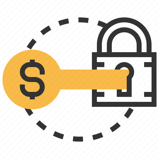 earnings, income, investor, password, profit, protection, safety icon