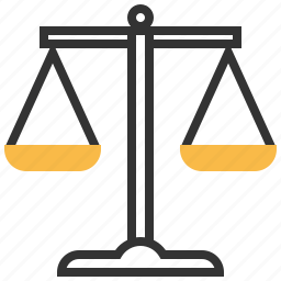 balance, finance, judge, justice, law, lawyer, scales icon