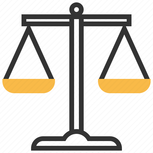 Law, scales, balance, finance, judge, justice, lawyer icon - Download on Iconfinder