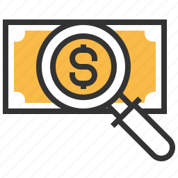cash, currency, dollar, financial, money, payment, seach icon