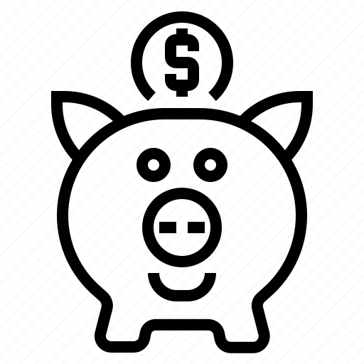 banking, deposit, money, piggy, retirement, saving account icon