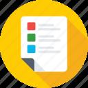 report, checklist, task, agenda, to do