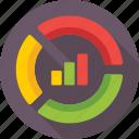 bar graph, business, chart donut, doughnut chart, graph icon
