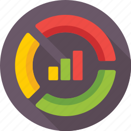 bar graph, business, chart donut, doughnut chart, graph icon