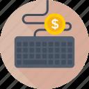 hardware, keyboard, dollar, earning, typing