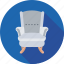 couch, furniture, office, settee, sofa icon