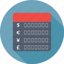 binary, currency exchange, exchange, forex, forex trading icon