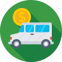 bank van, delivery van, shipping, van, vehicle icon