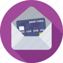 banking, credit card, envelop, finance, plastic money icon