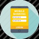 app, app login, login, mobile login, password icon