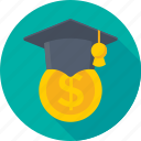 commencement, degree cap, economist, graduate cap, mortarboard icon
