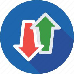 arrow, down level, up and down, up arrow, up level icon