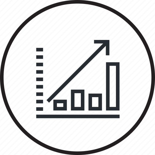 banking, chart, finance, forecast, graph, line, stock exchange icon