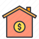 banking, business, home, loan, payment icon