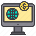 banking, business, internet, payment icon