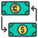 banking, business, exchange, money, payment icon