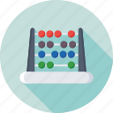calculating machine, abacus, counting, counting frame, beads frame icon