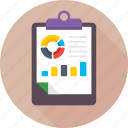 analysis, clipboard, graph report, report, statistics icon
