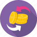 banking, coins, coins stack, currency coins, dollar coins icon