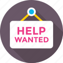 board, hanging board, hanging signboard, help wanted, signboard icon