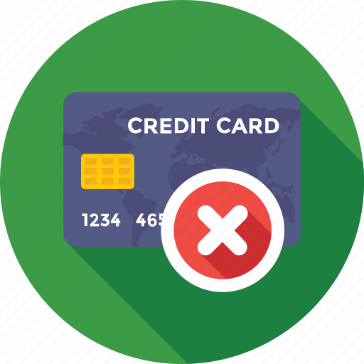 cancel, cancelled card, commerce, credit card, payment method icon