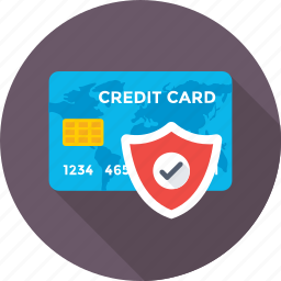 credit card, money protection, secure transaction, security, shield icon