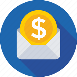 cash, coin, currency, envelope, money icon