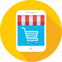 m commerce, mobile, online shopping, shopping app, trolley