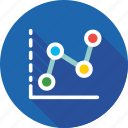 analytics, business, graph, line chart, statistics icon