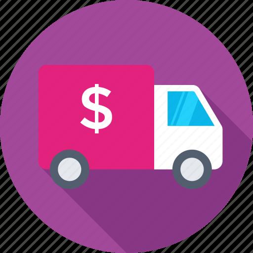 bank van, delivery van, shipping, van, vehicle icon