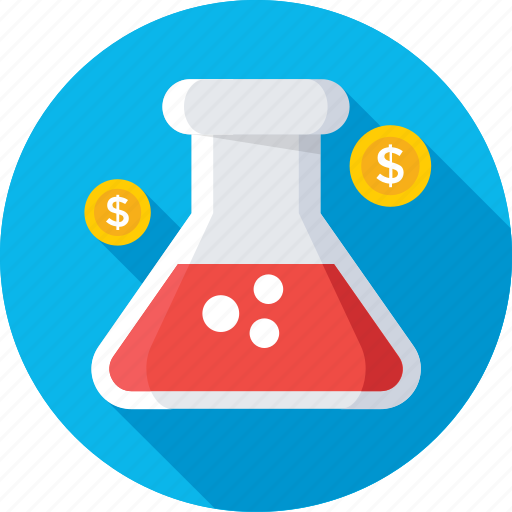 chemical, experiment, flask, lab flask, research icon