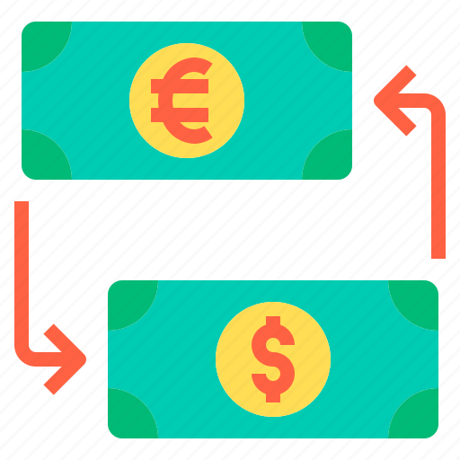 banking, business, exchange, finance, money, payment icon