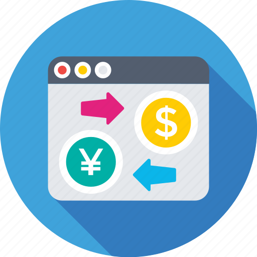arrows, currency exchange, dollar, online trading, web icon