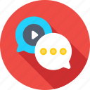 chat balloon, chat bubbles, comments, conversation, media icon