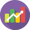 finance, growth, profit, progress, yield icon