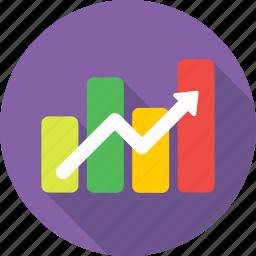 finance, growth, profit, progress, yield icon
