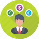 currency, economist, exchange, forex trading, trader icon