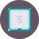 business, chip, circuit, dollar, processing chip icon