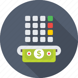 atm, atm button, tax, transaction, withdrawal slot icon