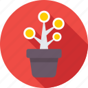 business growth, investment, money plant, plant, plant pot icon