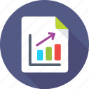 bar graph, finance report, graph analysis, graph report, sale report icon
