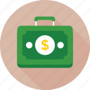 bag, briefcase, case, currency briefcase, office icon