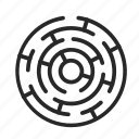 confusion, contract, maze, puzzle, the bank icon