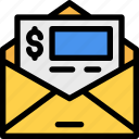 bill, commercial, financial, invoice, payment, receipt, ticket icon