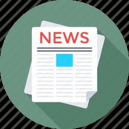 e newspaper, journal, newspaper, newsprint, print media icon
