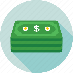 banknote, currency, currency stack, money stack, paper money icon