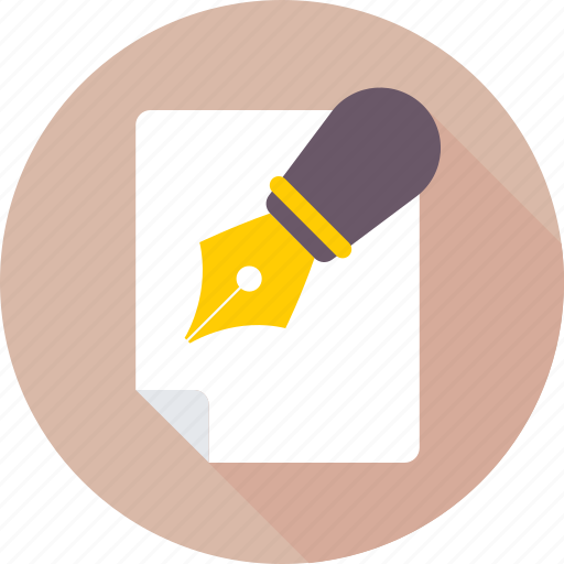 article, document, notes, pen, writing icon